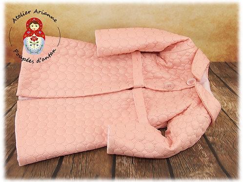 Bernadette manteau pour poupée 55cm/60 cm