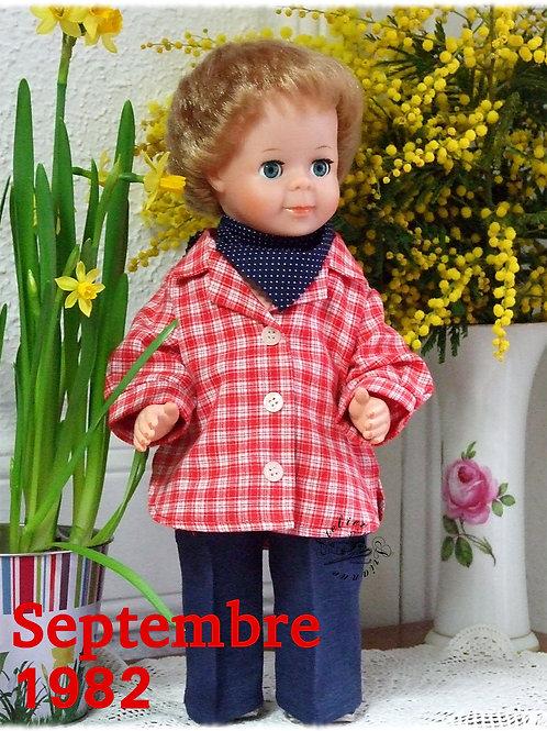 Tenue pour poupée Jean-Michel Modes et Travaux Septembre 1982