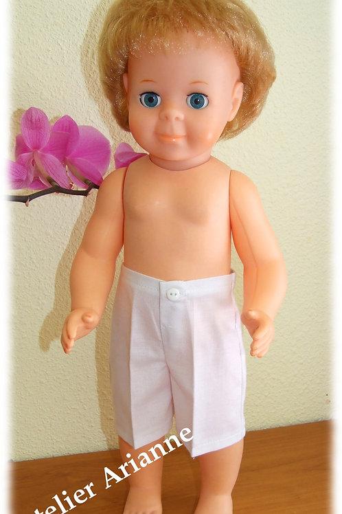 Pantacourt pour poupée Jean-Michel Modes et Travaux Août 1973