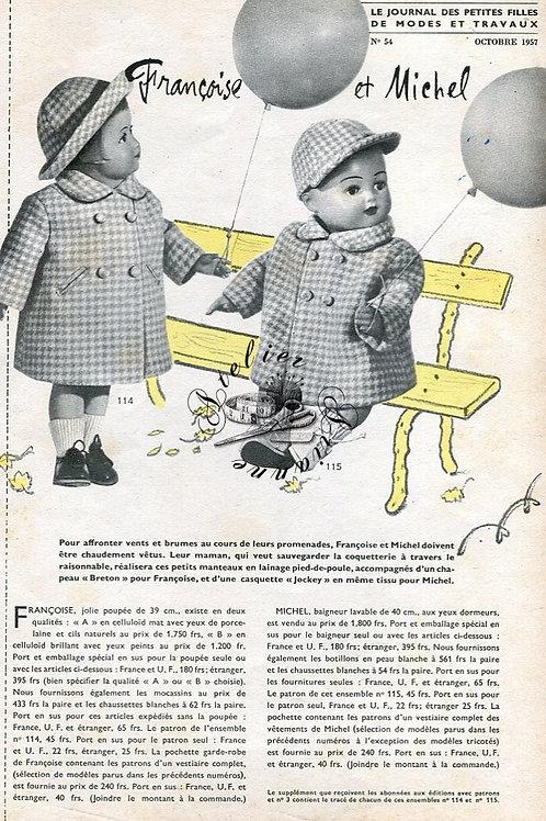 Page Modes et Travaux Octobre 1957 avec mini patron