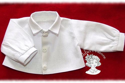 Chemise à manches longues pour poupée de 34 cm