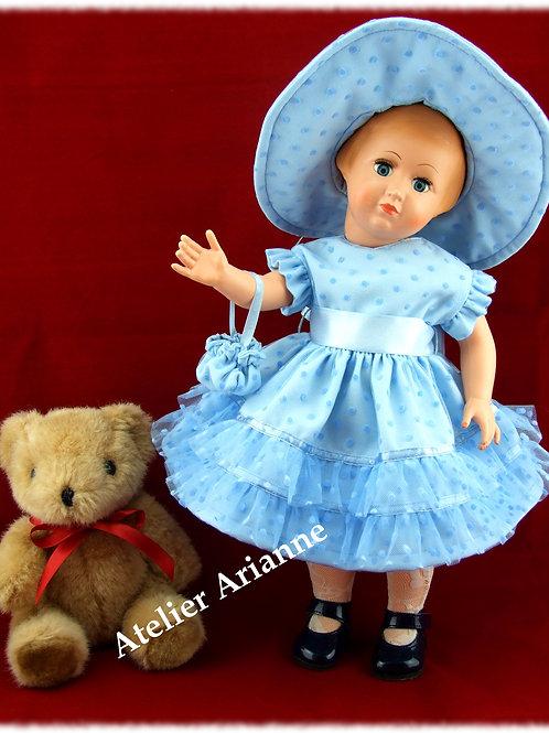 Tenue pour poupée Françoise Modes et Travaux Juillet 1952