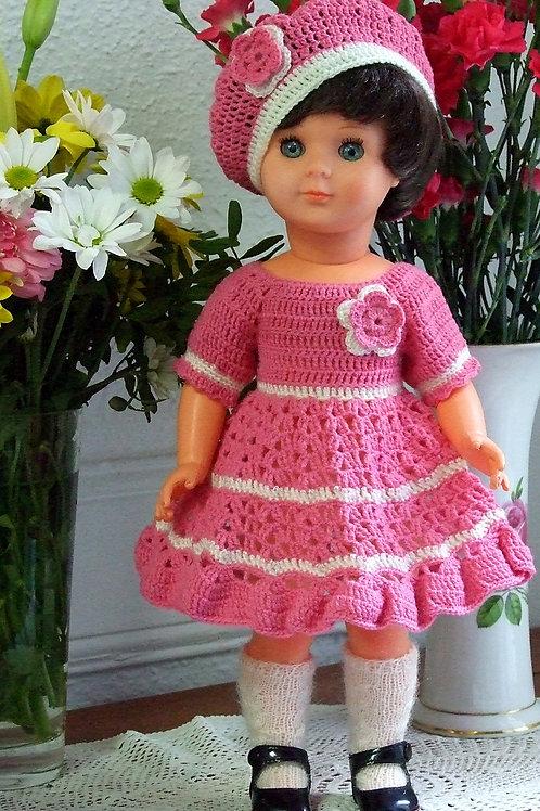 Tenue Amélie crochet pour poupée Françoise Modes et Travaux