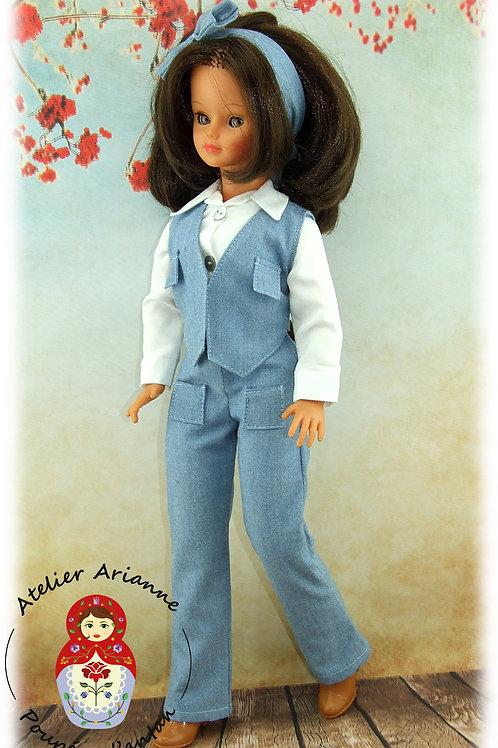 Reproduction de la tenue originale pour poupée Cathie de Bella