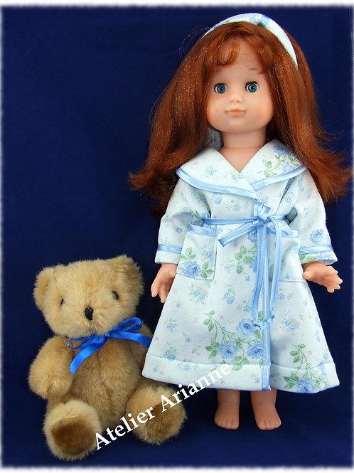 Robe de chambre Dominique pour Emilie, poupée de Modes et Travaux