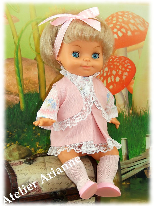 Tenue Corinne petite pour poupons, baigneurs  et poupées enrobées 33-35 cm