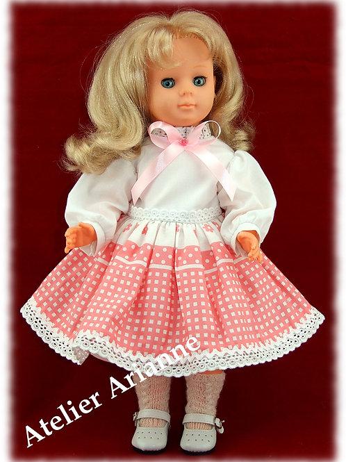 Tenue Babette pour poupées Modes et Travaux: Françoise, Francette autres 40 cm