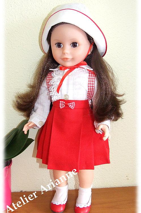 Tenue Lucette pour poupées Modes et Travaux Marie-Françoise, Louise