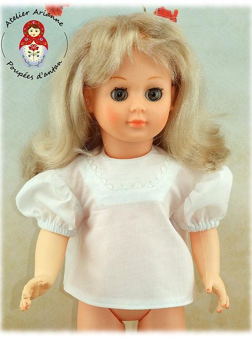 Chemise juin 1956  pour poupée Françoise de Modes et Travaux