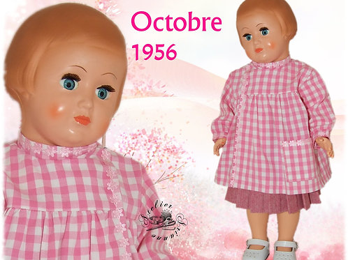 Tenue pour poupée Françoise Modes et Travaux Octobre 1956