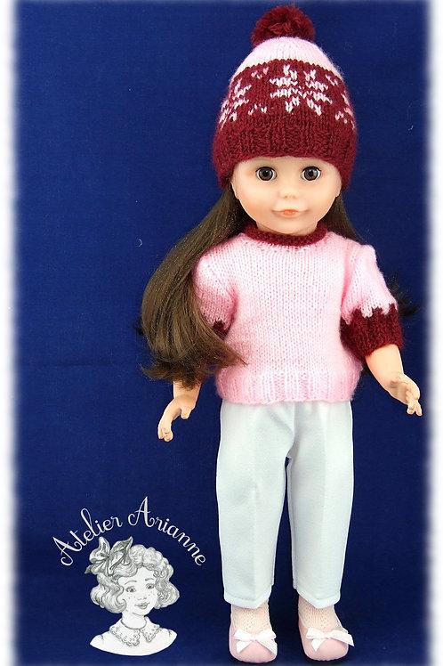 Erica- tenue tricot pour poupée  Marie-Françoise de Modes et Travaux