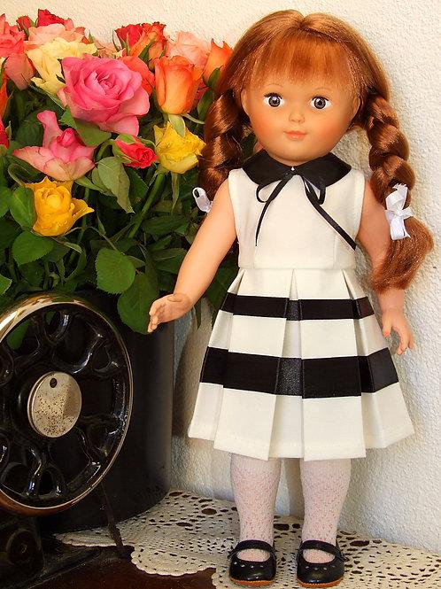 """Tenue """"Audrey"""" pour poupée Modes et Travaux Françoise, Marie-Françoise"""
