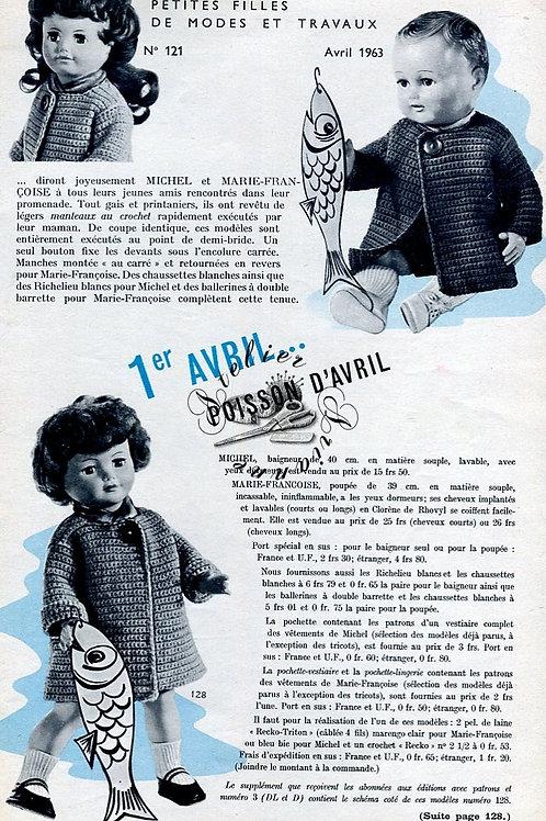 Page Modes et Travaux Avril 1963 avec mini patron