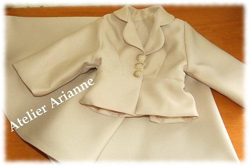Reproduction tenue mariage Ariane pour poupée 76 cm