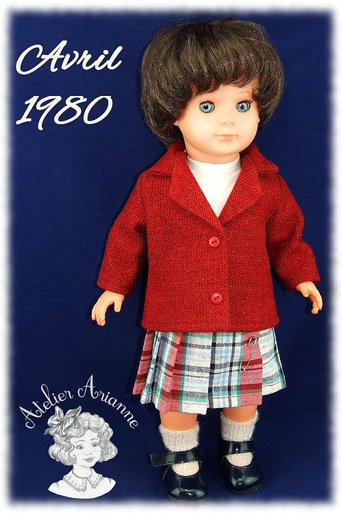Avril 1980 Tenue pour poupée Marie-Françoise Modes et Travaux