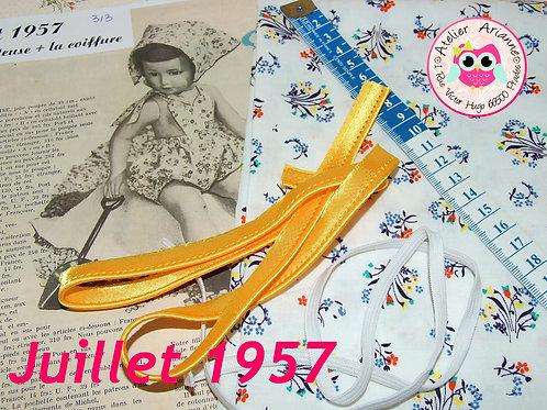 Kit 46 couture Modes et Travaux Françoise,  Juillet 1957