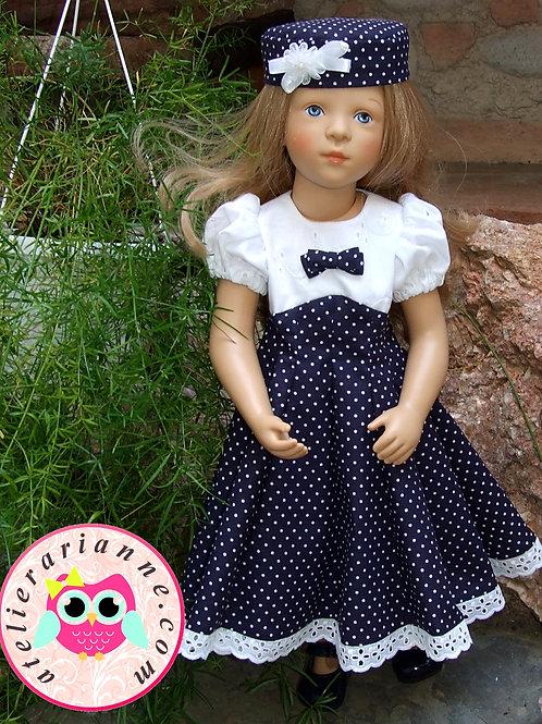 Robe Parisienne pour poupée Finouche Petitcollin