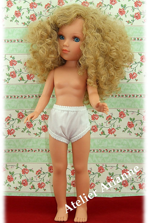 Culotte blanche pour poupée Vidal Rojas, Nancy de Famosa, Minouche,Vestida