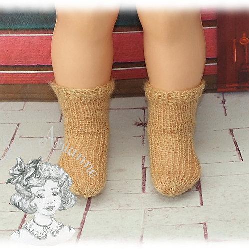 Chaussettes caramel tricotées  pour : Jean-Michel