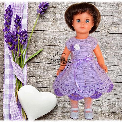 Tenue ''Sophie'' crochet pour poupée Françoise, Modes et Travaux