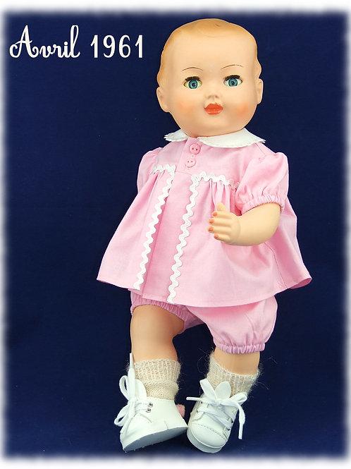 Avril 1961 Tenue pour poupée Michel Modes et Travaux