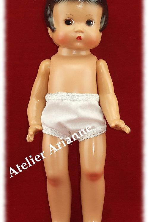 Culotte blanche pour poupée Patsy 30-33 cm