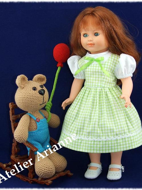 Tenue pour poupée Modes et Travaux Françoise, Marie-Françoise Juin 1956