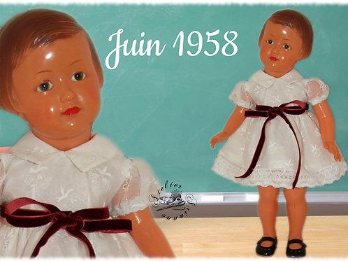Tenue poupée Modes et Travaux Françoise Juin 1958