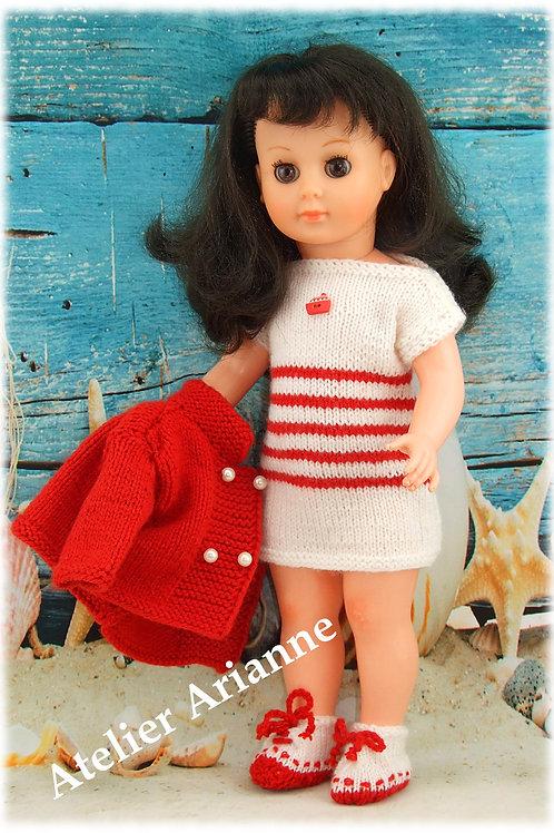 Tenue Nina tricot pour poupée Marie-Françoise Modes et Travaux