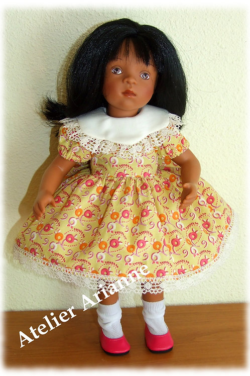 Tenue Anaelle pour poupées  Little Darling ,Minouche, Corolle 33 cm