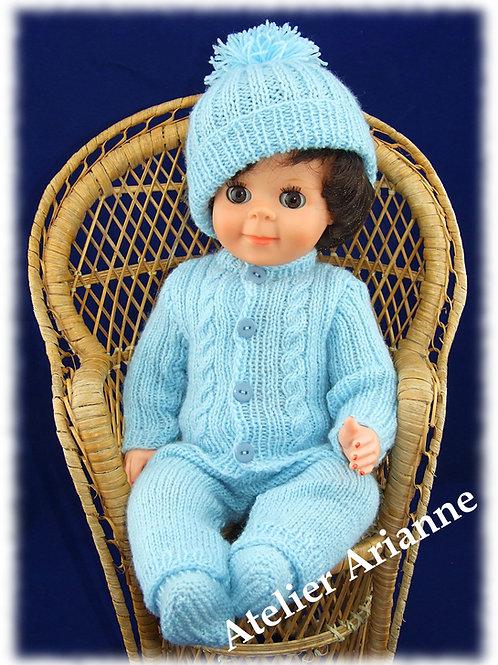 Tenue Bernard tricot pour baigneur Michel Modes et Travaux ou autres de 40 cm