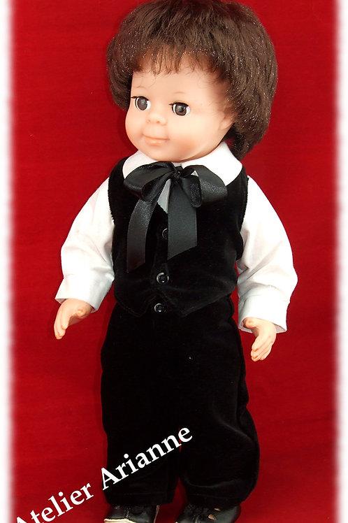 Tenue pour poupée Jean-Michel Modes et Travaux assorti à Décembre 1951