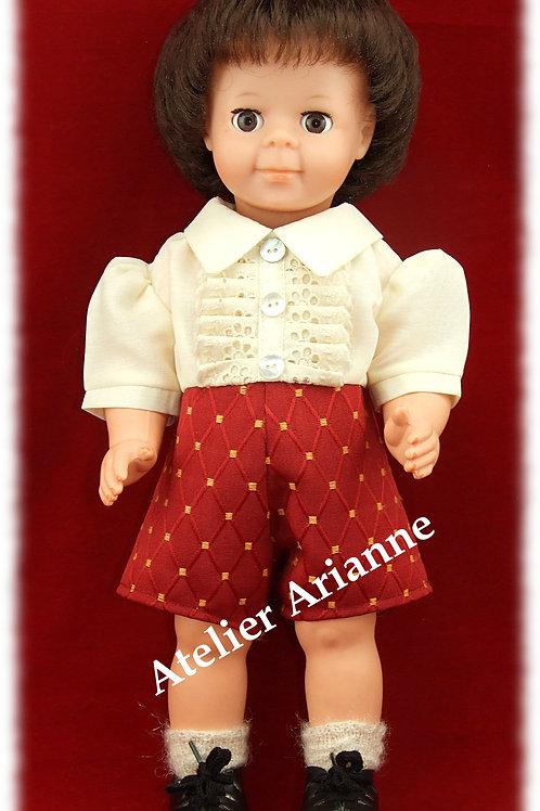 Tenue novembre 1958 pour poupée Jean-Michel, Jacky et autres baigneurs 40-45 cm