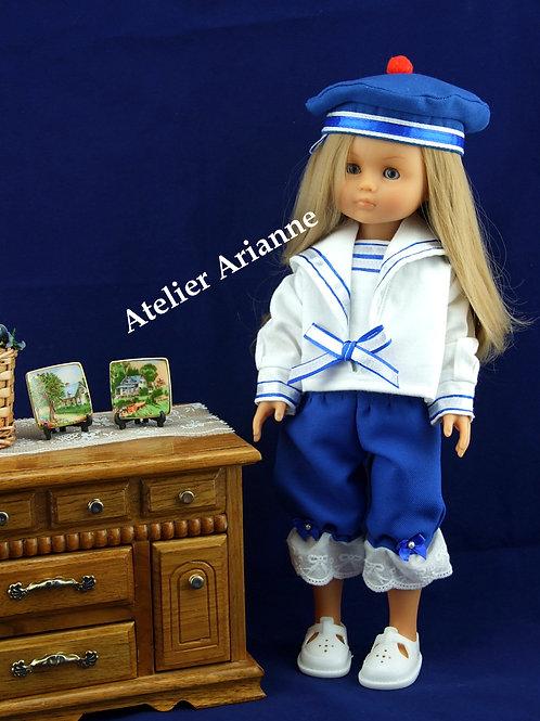 Tenue Petit Marin pour poupée Chérie de Corolle et Paola Reina 33 cm
