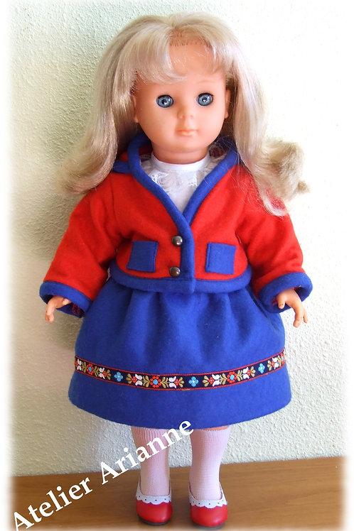 Tenue pour poupée Louise, Marie - Françoise Modes et Travaux septembre 1986