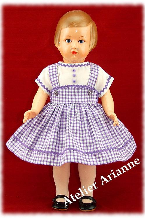Tenue Zoé pour poupée Marie-Françoise, Elisabeth et autres Modes et Travaux