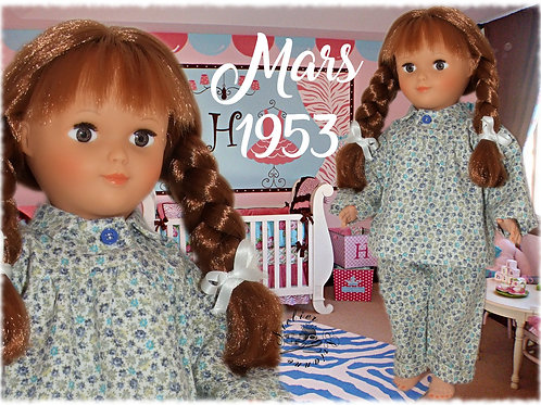 Commande pour Roselyne Tenue pour poupée Françoise Modes et Travaux Mars 1953