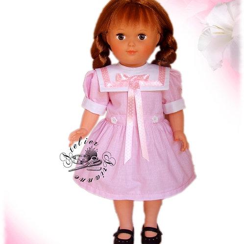 Tenue pour poupée Marie-Françoise,  Modes et Travaux Mai 1986