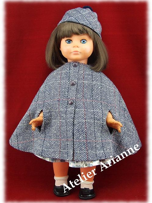 Tenue Promenade pour poupées : Gotz, Finouche, Journey, Raynal, Rosereine 50 cm