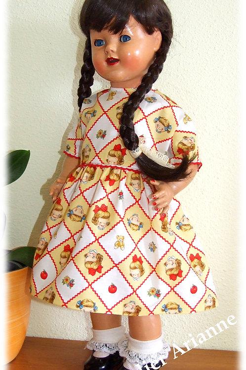 Tenue Margaret pour poupée  Raynal, Bella, GéGé 46-50 cm
