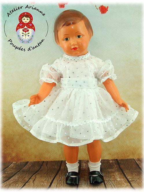 Décembre 1956 Tenue pour poupée Marie-Françoise  Modes et Travaux