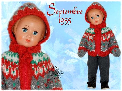 Tenue pour poupée Françoise Modes et Travaux Septembre 1955