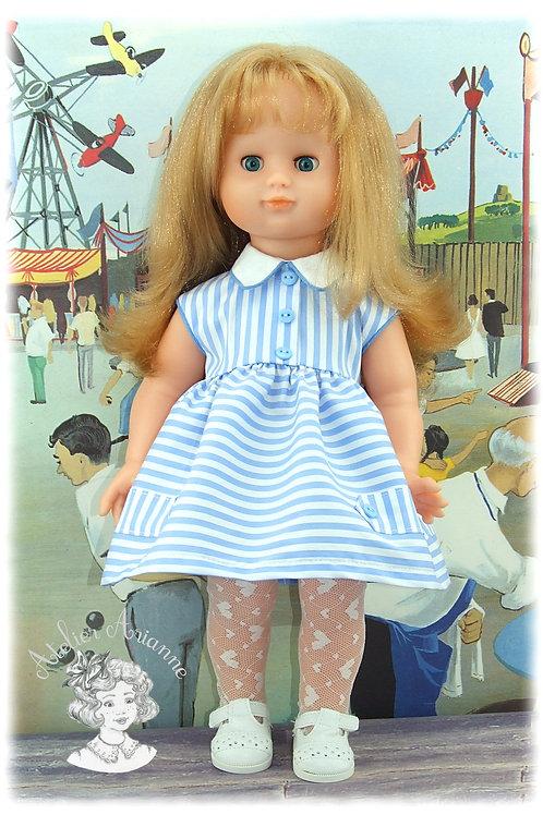Tenue pour poupée Françoise de Modes et Travaux - Juin 1957