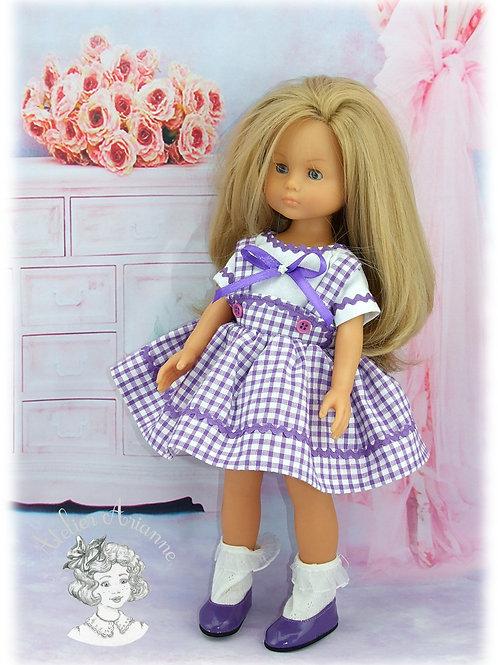 Tenue Zoé pour poupées: Minouche, Corolle, Paola 33 cm, Bombon 30 cm