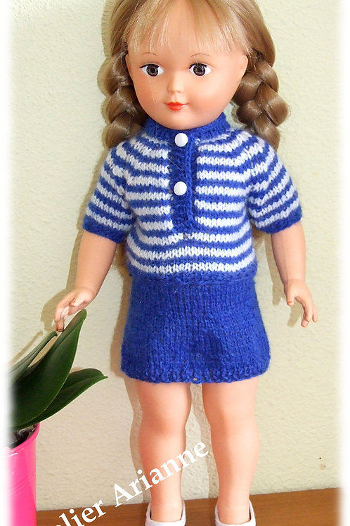Tenue Mai 1965 pour poupée Modes et Travaux, Marie-Françoise