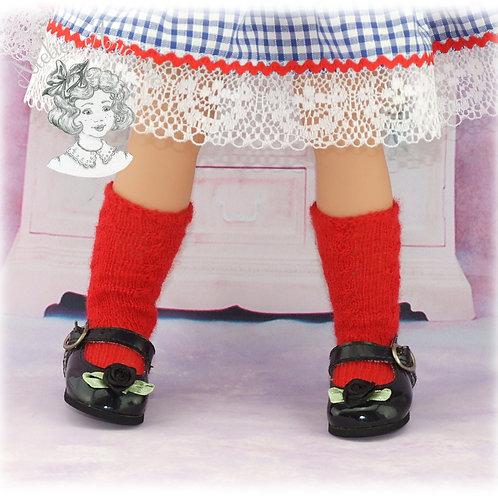 Chaussettes tricotées pour poupées de 48-52 cm: Raynal, GéGé, Gotz ...