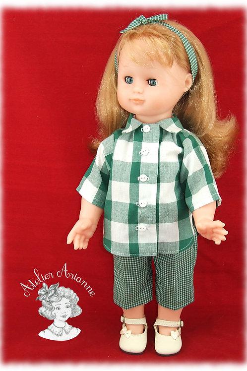 Tenue Août 1996 pour poupée Emilie de Modes et Travaux