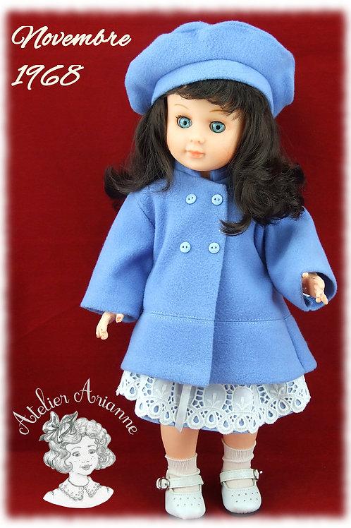 Tenue Novembre 1968 pour poupées Modes et Travaux Emilie et Marie-Françoise