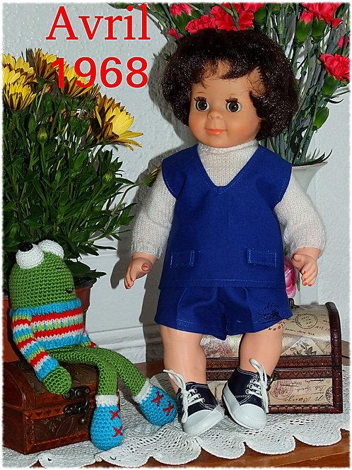 Tenue pour poupée Michel Modes et Travaux Avril 1968