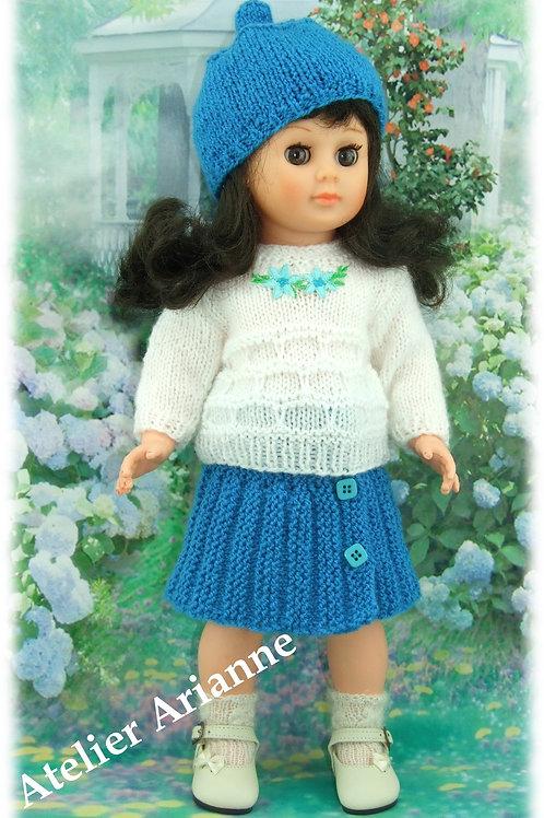 Tenue Nadia tricot pour poupée Marie-Françoise Modes et Travaux